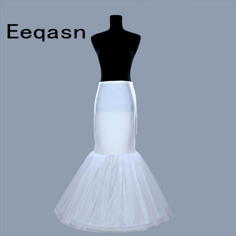 Venta al por mayor de enagua de sirena 1 aro hueso elástico vestido de novia crinolina 2020 blanco negro nupcial enagua jupon enagua
