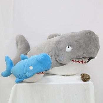 2020 New Shark Stuffed Plush Toy Soft Animal Reading Pillow For Christmas Gifts Cushion Cartoon Plush Doll Gift For Kids loveyle super soft whale plush toy cartoon animal fish stuffed doll baby sleeping pillow cushion kid girlfriend christmas gift