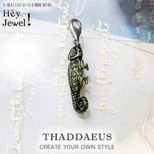 Colgante de camaleón de lagarto pirata verde, joyería de marca de moda, bisutería europea, accesorios de plata de ley 2019, regalo para mujer y hombre, 925