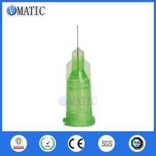 Free Shipping Non Sterilized 100Pcs 34G 0.25'' Dispensing Glue Syringe Barrel Needle Tip 1/4 Inch