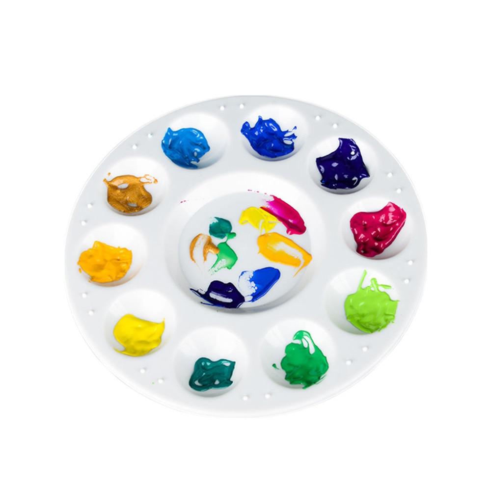 1Pcs Art Alternatives Paint Tray Artist Watercolor Plastic 10 Holes White Palette Art Supplies