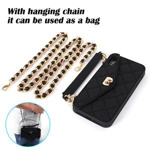 Image 2 - Droshipping vip bolsa de ombro bolsa carteira silicone macio caso do telefone para o iphone 12 mini 11 pro max 6s 7 8 plus xs max xr x 10