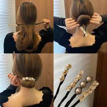 Vintage concha pérola hairpin bun penteado vara de cabelo feminino elegante cabelo scrunchies flor ferramentas do fabricante de cabelo acessórios para o cabelo