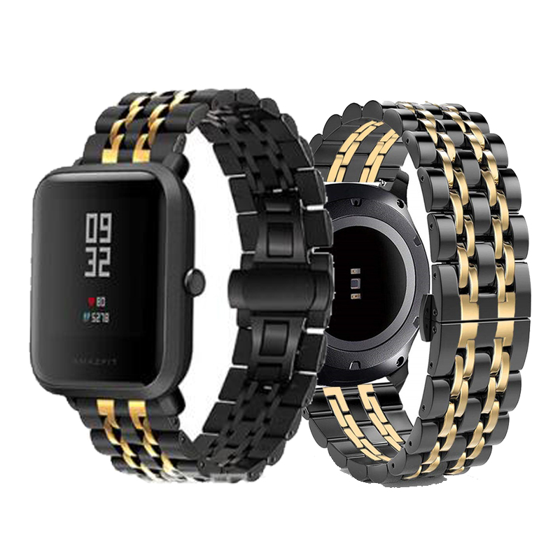 Bracelet For Xiaomi Amazfit Bip Strap For Huami Amazfit Pace Stratos Gtr 47mm Strap Stainless Steel Gts Gtr 42mm Watch Band