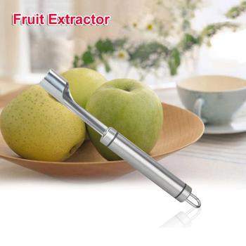 1 unidad de acero inoxidable, cortador de manzana, cortador de fruta, removedor de núcleo, giro fácil, cuchillo de pera de manzana, herramientas de fruta, utensilios de cocina