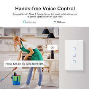 Image 5 - Itead Sonoff T0US 120 Size 1/2/3 gang TX Wall Switches Remote Controlled Wifi Switch With Border Works With Alexa Google Home