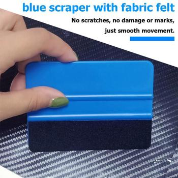 Car Window Wrapping Tools Vinyl Film Squeegee Scraper Squeegee with Felt Edge Auto Styling Sticker Accessories Blue image