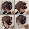 Simple Metal Hollow Out Geometric Hair Claw Ladies Elegant Hair Accessories Cross Crab Bath Clip For Women Fashion Girl Headwear 3