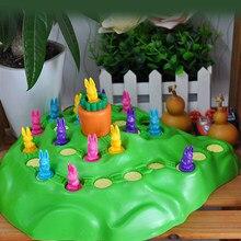 Brinquedos educativos do bebê coelho coelho jogo armadilha competitivo jogar brinquedo de xadrez crianças família divertido jogo de infância brinquedos educativos