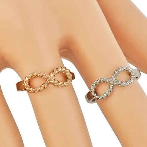Delle Donne di Modo Fortunato Anello di Cristallo Dei Monili di Best Amico di Amicizia da Sposa Anniversario Anello di Fidanzamento