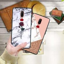 Luxury Marble Granite Stone Texture Phone Case For Oneplus 7 Pro 6T 6 5 5T Coque Black Soft Silicone Cover Etui Fundas