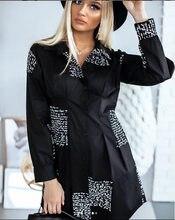 Blusa solta femal senhoras sexy pus tamanho vestido elegante vestido de festa roupas escritório senhora camisas vestido feminino manga longa v pescoço