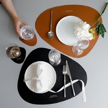 Leather Dinner Table Mats Heat-Resistant Non-Slip Washable Insulation Coffee Kitchen Place Nordic Style Placemats