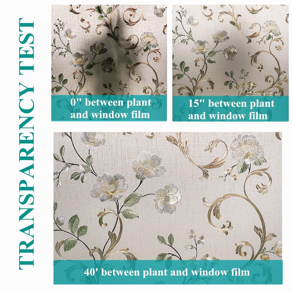 Decorative 3D Window Glass Sticker, Vinyl Self-adhesive Window Tint Films ,Stained Window Glass Films for Home Office 6