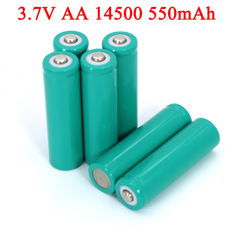 AA 550mAh <font><b>3.7V</b></font> Lithium battery INR14500 ternary lithium batteries for temperature gun, remote control, mouse + Pointed image