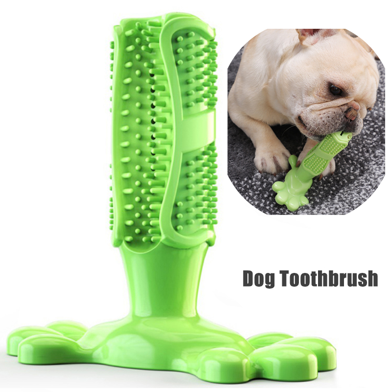 D-<font><b>Dog</b></font> Toothbrush <font><b>Dog</b></font> Chew Tooth Cleaner Brushing Stick Pet Chew Toy Training Toy <font><b>Dogs</b></font> Pets Oral Care <font><b>Dog</b></font> Brushing Stick image