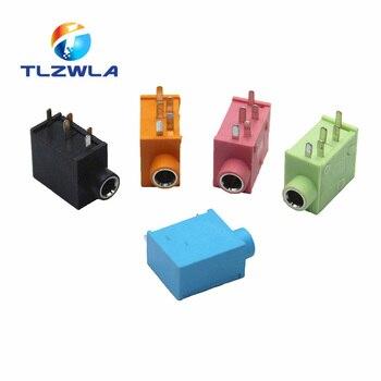 10 Uds PJ215 PJ325 3,5mm cinco colores adaptador de conector de auriculares estéreo enchufe de alimentación clavija para audio y vídeo enchufe