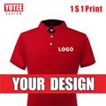 Мужская и Женская Повседневная рубашка-поло YOTEE  Повседневная рубашка-поло с коротким рукавом и логотипом персональной компании