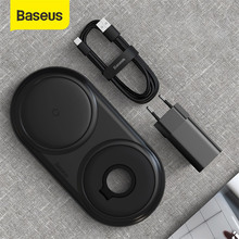 Baseus 2 in 1 Wireless Charger Pad With 24W QC Adapter For Apple Watch 10W Qi Fast Wireless Charging For iPhone Samsung Xiaomi