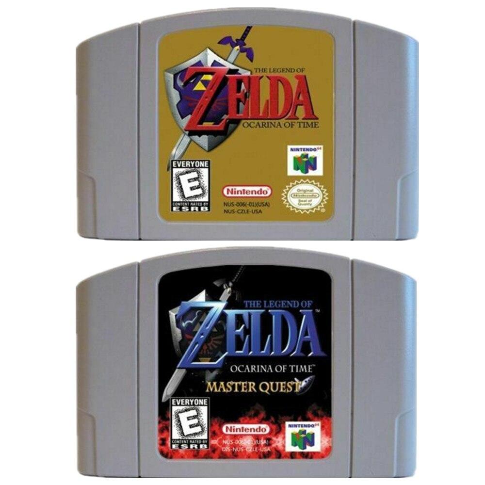 N64 игра Легенда о Зельде, Ocarina of Time Master Quest для Nintendo 64 видеоигр картриджи US/CAN консоль