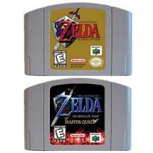 N64 jogo a lenda de zelda ocarina do tempo mestre busca para nintendo 64 cartuchos de jogos de vídeo eua/can console