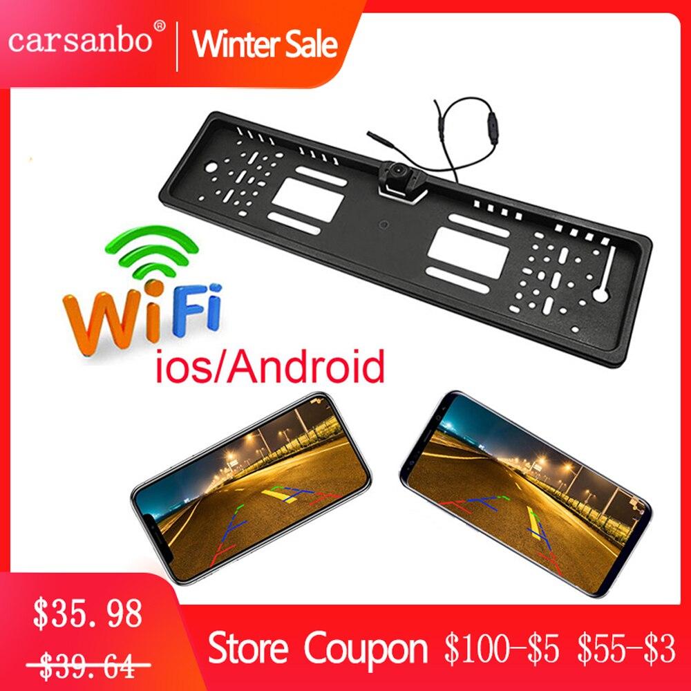 Wifi Автомобильная камера заднего вида/Камера Переднего Вида Беспроводная Европейская Автомобильная рамка для номерного знака камера заднего вида для мобильного телефона IOS Android