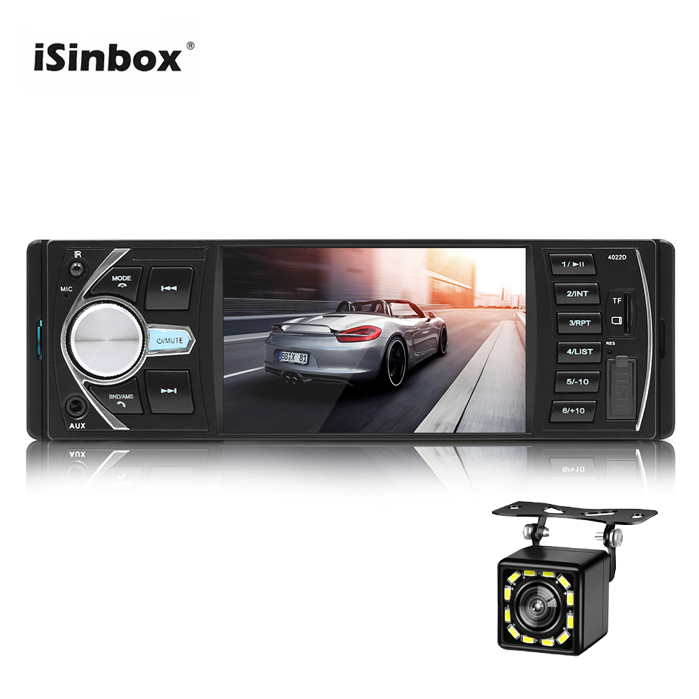 ISINBOX 4.1 Car Radio 1 Din Radios Para Auto Bluetooth Handsfree Call Autoradio 1 Din Car Stereo Steering Wheel Control FM image