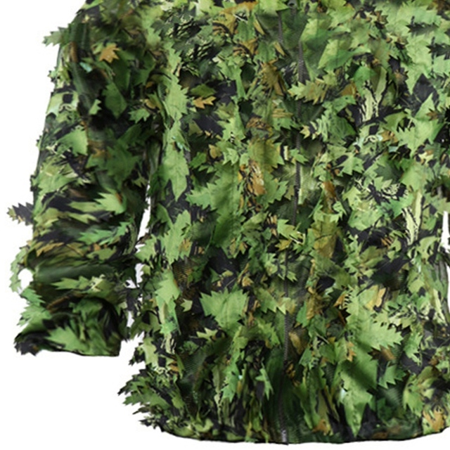 Sticky Flower Bionic Leaves Camouflage Suit Hunting Ghillie Suit Woodland Camouflage Universal Camo Set 5