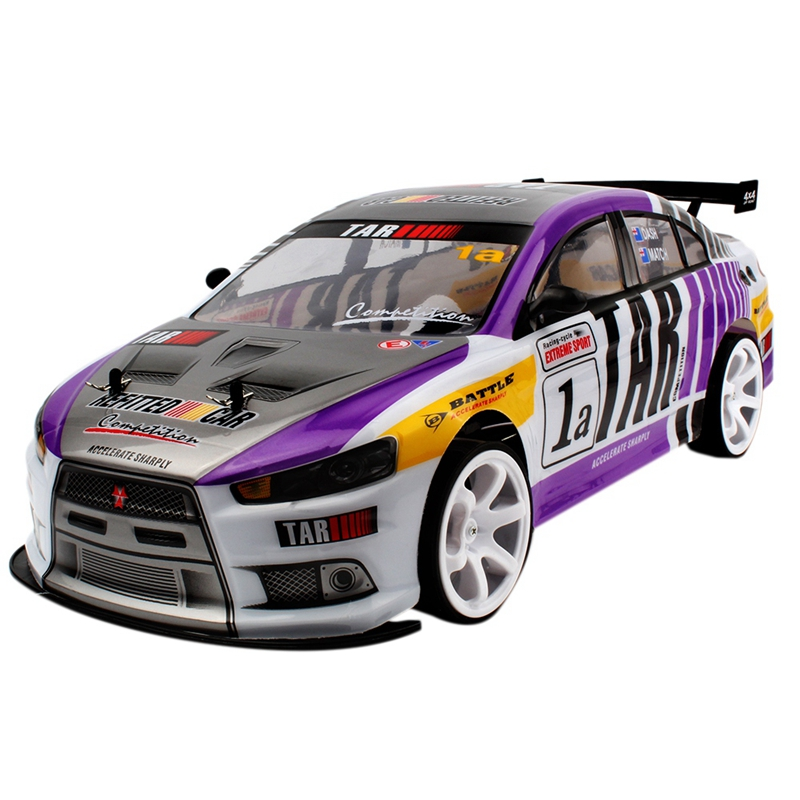 70Km/H 1:10 High Speed Super Large Rc Remote Control High Speed Drift Vehicle(Purple Two-Cell Battery)