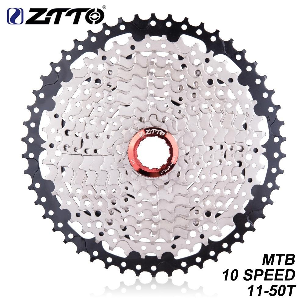 ZTTO MTB Mountain Bike 10 Speed 11 50T Cassette Sprockets Flywheel Ratios For Bicycle Parts XT SLX XO X0 X9 X7|  - title=