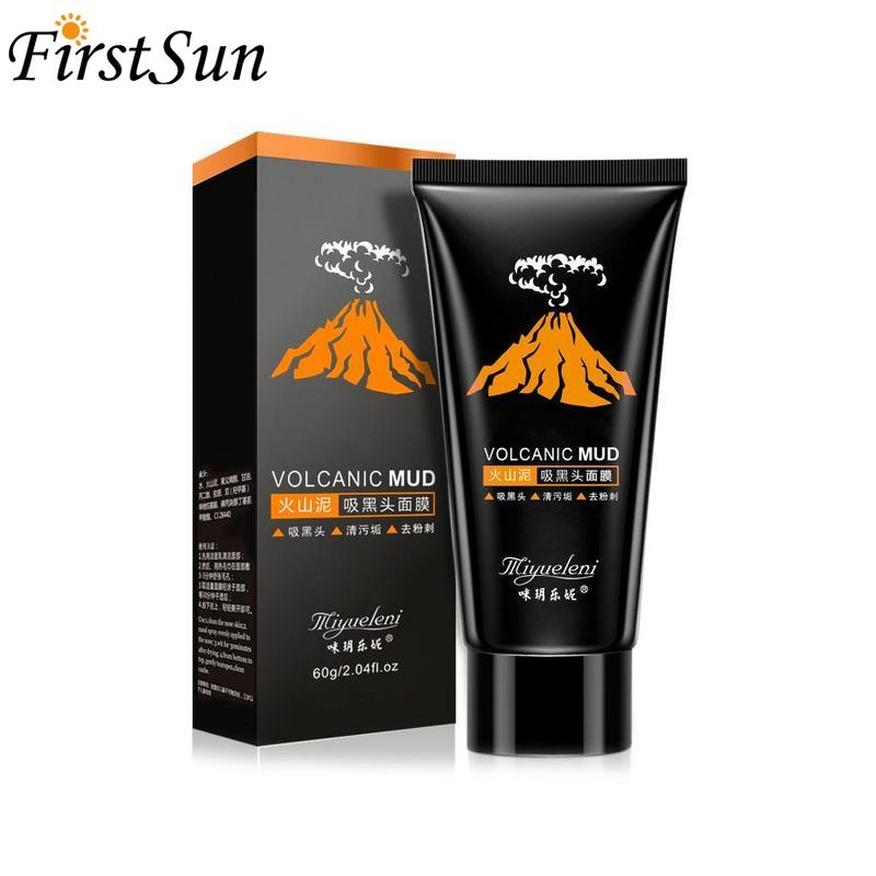 Volcanic Mud Face Clay Mask Blackhead Remover Black Face Mask   Peel Gel Mask Deep Cleansing Acne Treatment Korean Skin Care
