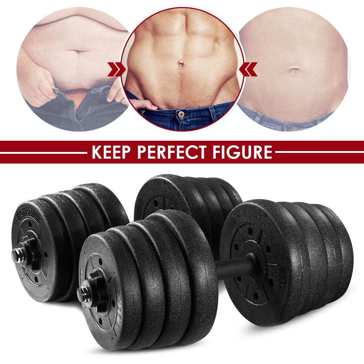 Une paire de 30kg haltères ensemble de poids réglable solide Fitness haltères ensemble sécurité anti-dérapant haltères gymnastique exercice entraînement outils - 2