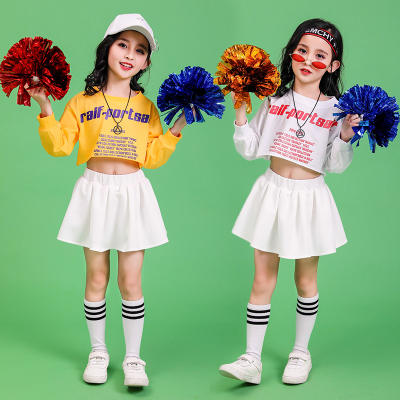 Children's Street Dance Clothing Suit Loose Spring And Autumn Girls Korean Version Of The Cheerleading Uniforms Costumes