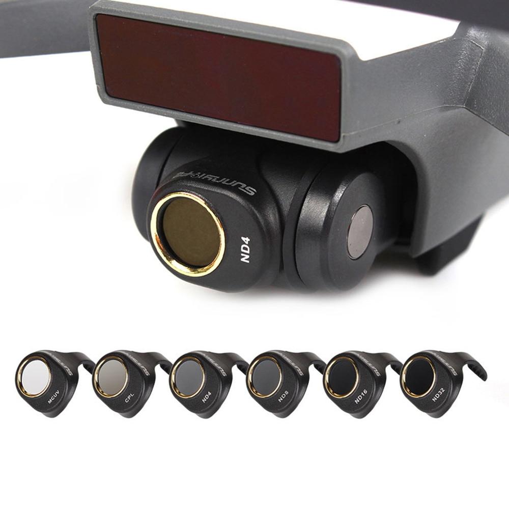 Dji 스파크 다층 코팅 필름 용 3/4/6 개/대 mcuv/cpl/nd4 nd8 nd16 nd32 필터 키트 렌즈 hd 투명 카메라 렌즈 보호 장치-에서드론 필터부터 가전제품 의 title=