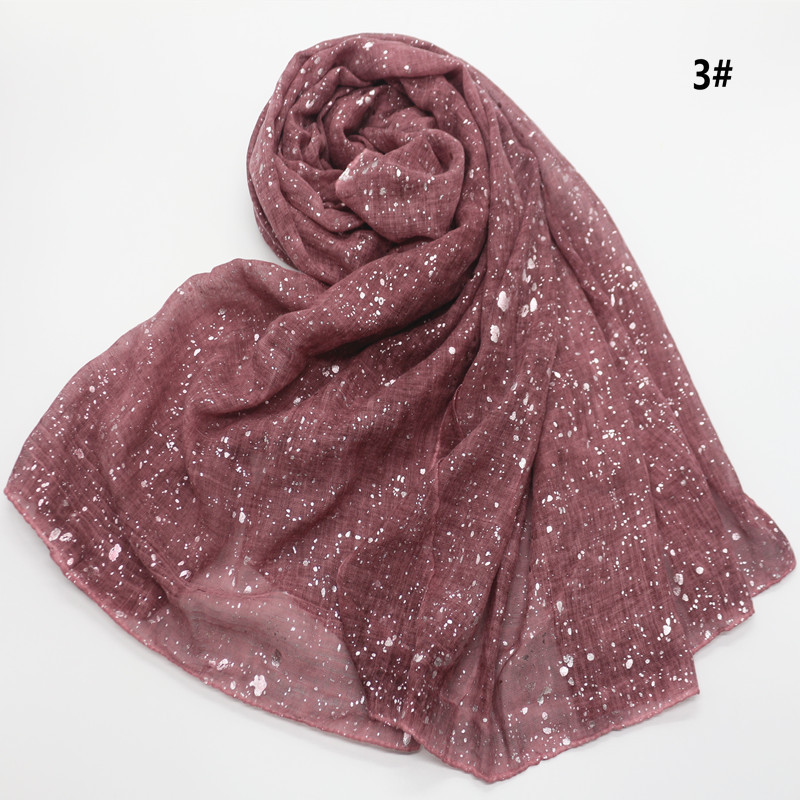 Image 5 - 90*180cm NEW muslim hijab scarf for women islamic soft glitter 