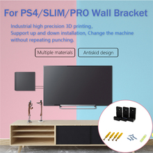 Suporte de montagem na parede para playstation 4 ps4 magro pro game console