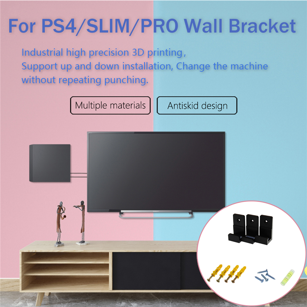 Wall Mount Bracket For PlayStation 4 PS4 Slim Pro Game Console