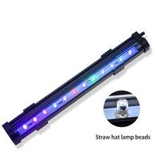 Super cienki oświetlenie LED do akwarium roślina wodna światło 30 40 50 60CM ue wtyczka wodoodporny klip na lampę do akwarium Dropshipping tanie tanio CN (pochodzenie) Do umieszczenia w wodzie fish black 1 8m