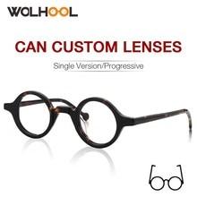Мужские и женские очки в стиле ретро, круглые очки из ацетата с прозрачными линзами, оптическая оправа для очков