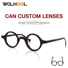 Asetat yuvarlak moda gözlük erkekler Harry Retro gözlük çerçeveleri sahte gözlük şeffaf Lens kadın optik gözlük çerçevesi