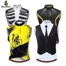 Wolfbike Reflective Cycling Vest Anti-sweat MTB Bike Sleeveless Jersey Running Sports Waistcoat Summer Breathable Downhill Gilet