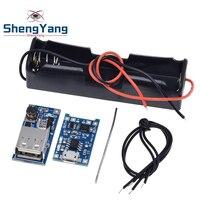 5V 1A 18650 TP4056 modulo caricabatterie al litio KIT fai da te 1X18650 custodia batteria 5V 600MA USB Mobile Power Boost Board