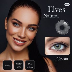 1pair Color Contact Lens For Eyes Green Lenses Cosmetic Brown Crystal Mirage Natural Colored Contact Lenses Color Contacts Gray