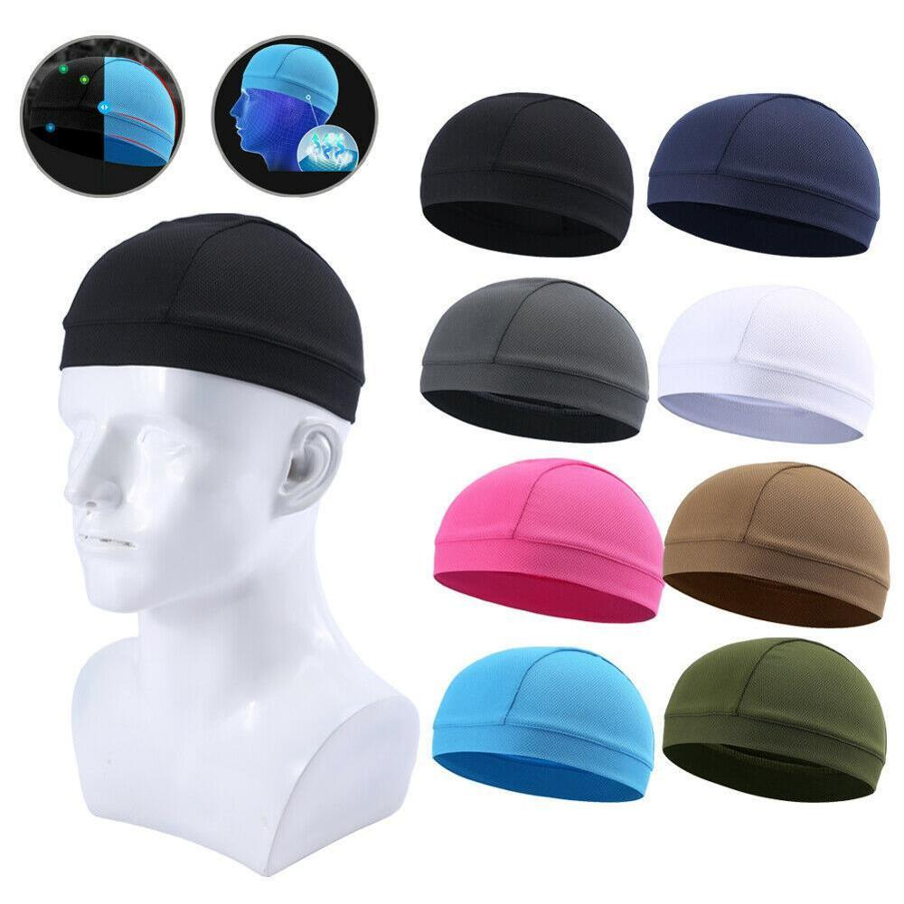 Men Headwear Helmet Liner Skull Cap Beanie Moisture Wicking Hat Head Band