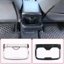 مسند ذراع السيارة من ألياف الكربون ABS ، غطاء لوحة المقعد الخلفي ، تقليم ، ملحقات السيارة الداخلية ، لتويوتا تاكوما 2016 2020