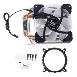Радиатор ЦП с 4 тепловыми трубками, охлаждающий вентилятор 90 мм, радиатор для разъема AMD, intel