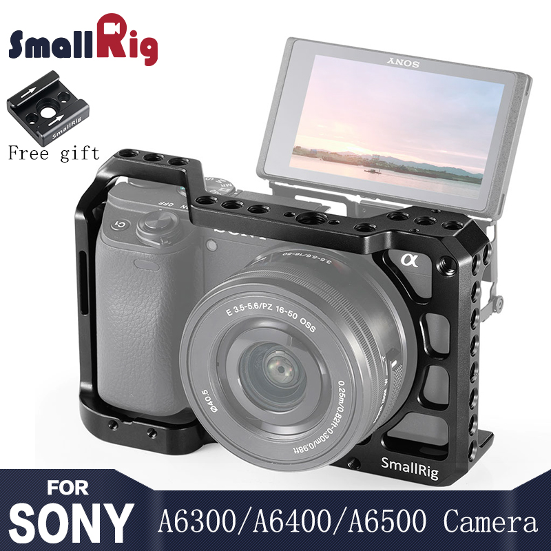 SmallRig A6400 Camera Cage For Sony Alpha A6300 / A6400 / A6500 / A6100 Camera W/ 1/4 3/8 Thread Holes For Vlog DIY Option 2310
