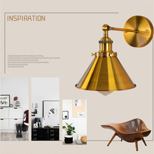 Nordic Gold LED Wall Sconce Industrial Wall Lamp Vintage Light Loft E27 Bulb Iron Retro Home Deco Bedroom Desk Lighting Fixtures цена 2017