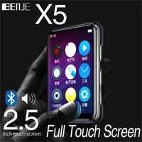 MP3 Player Bluetooth4.2 with 2.5 inch Full Touch Screen 16GB Built-in Speaker Supports FM, Video, Expandable SD Card up to 128GB