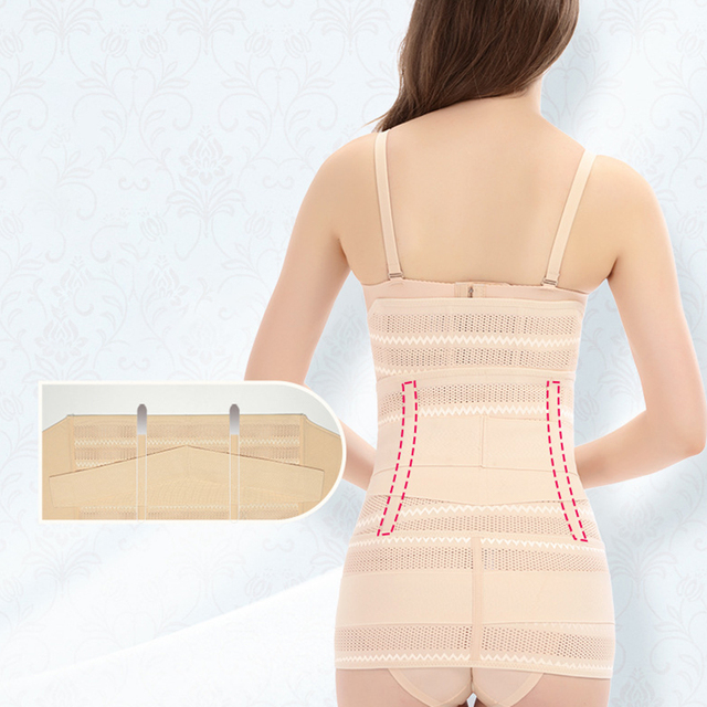 3pcs Slimming Bandage Recovery Postpartum Belt Set Sweat Wicking Elastic Strap Belly Health Care Pelvis Abdomen Pregnancy Girdle 5